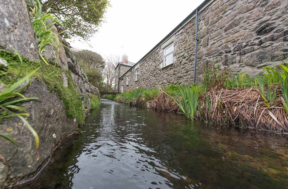 Enjoy your own personal stream at The Porthole in St Just, Cornwall.