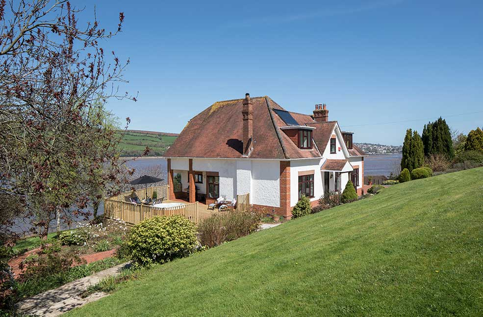 A luxury mansion next to the river in Shaldon.