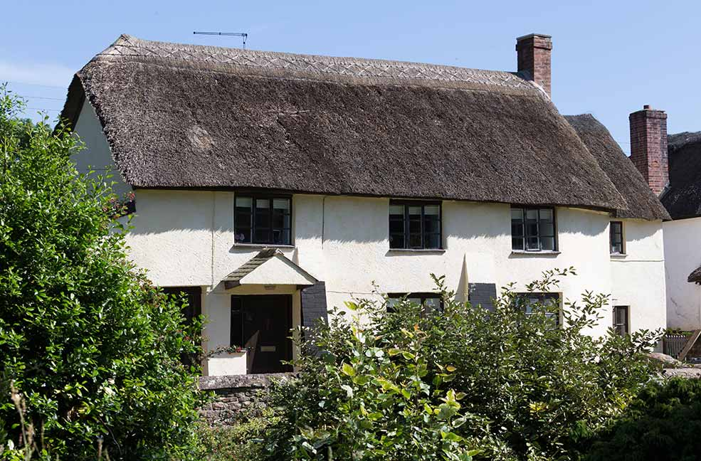 The thatched beauty of Appletree Cottage near Honiton in Devon.