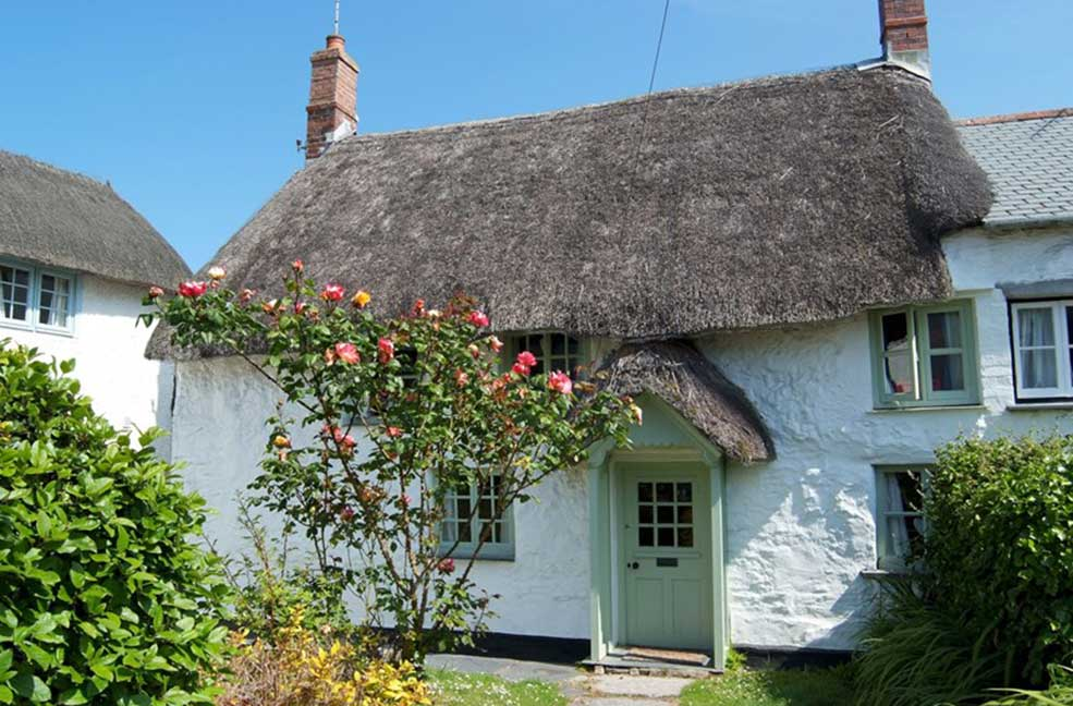 Thatched cottages for celebrating New Year