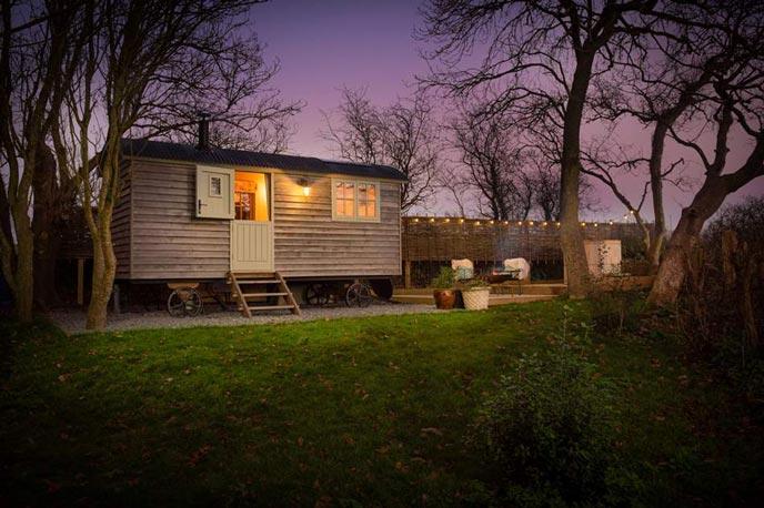 Woodpecker Shepherd's Hut in N Cornwall