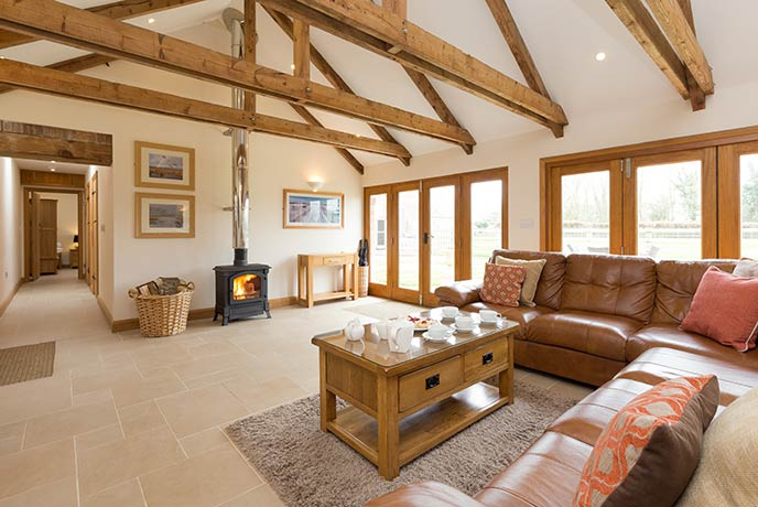 Relax into this beautiful barn conversion in Somerset.