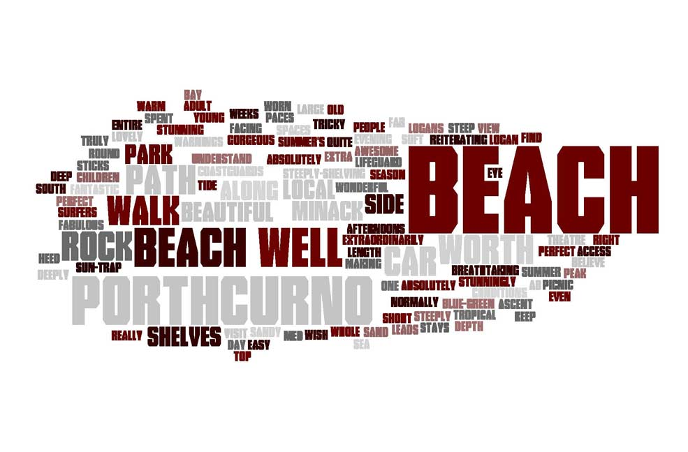 Words used to describe Porthcurno
