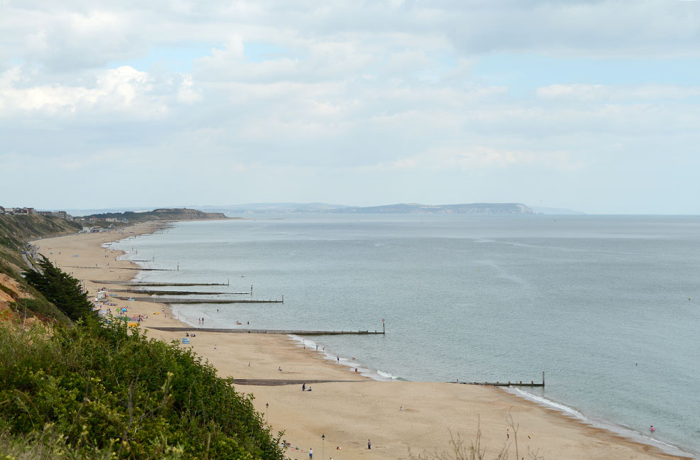 Hengistbury Head and the Isle of Wight
