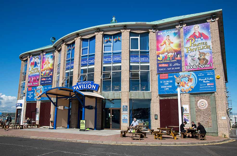 The Pavilion overlooks the sea in Weymouth and stages everything from Easter panto to more serious dramatics.