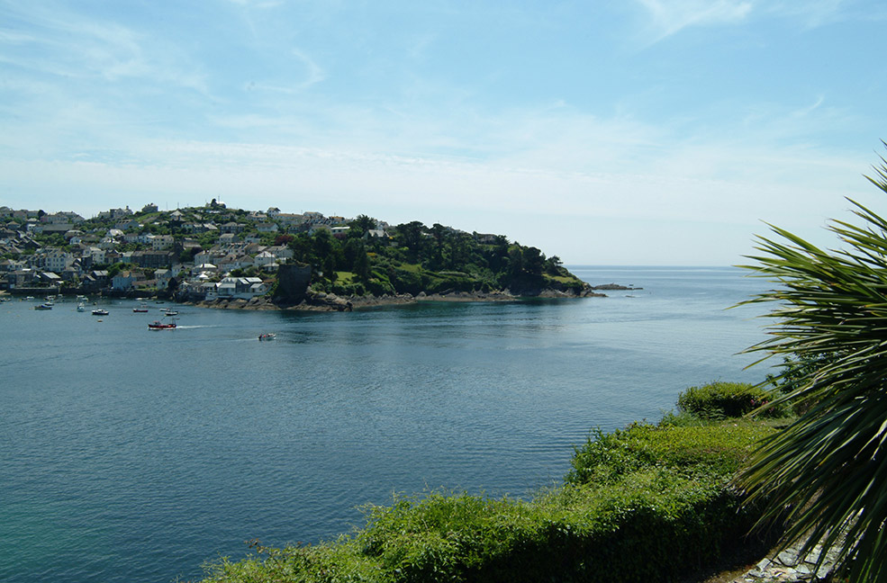 Looking at Polruan from Fowey across the river.