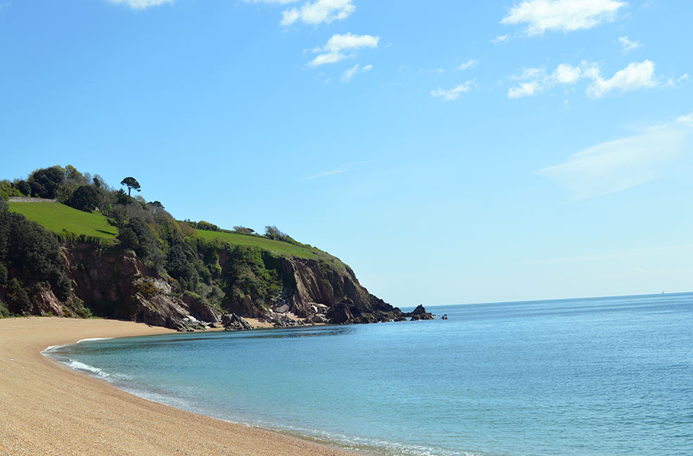 The blue sky matched the blue sea at Blackpool Sands in South Devon. Perfect weather for an ice cream.