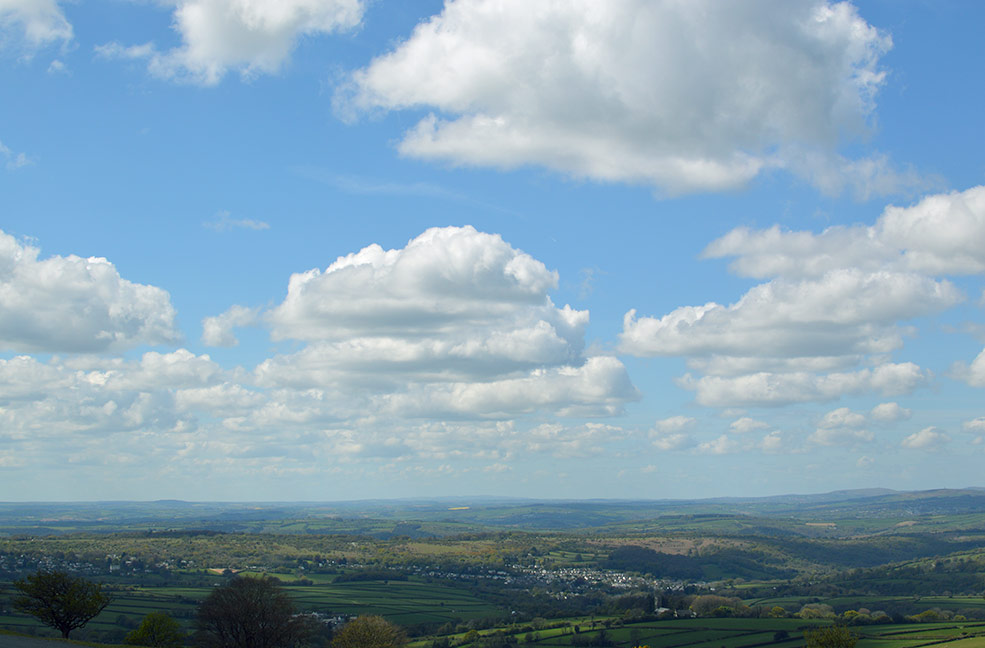 Amazing views across the moors and Devon.