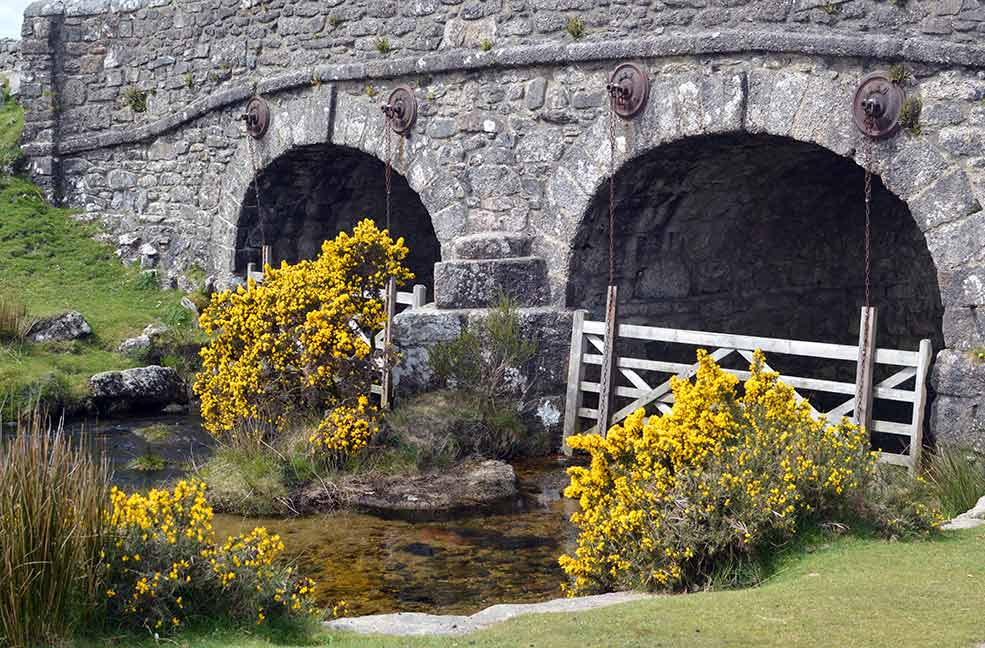 A pretty bridge over a babbling Dartmoor brook.