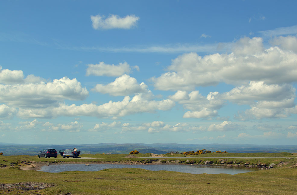 The incredible view from the hills of Dartmoor. Lots of laybys to stop and take some photos.