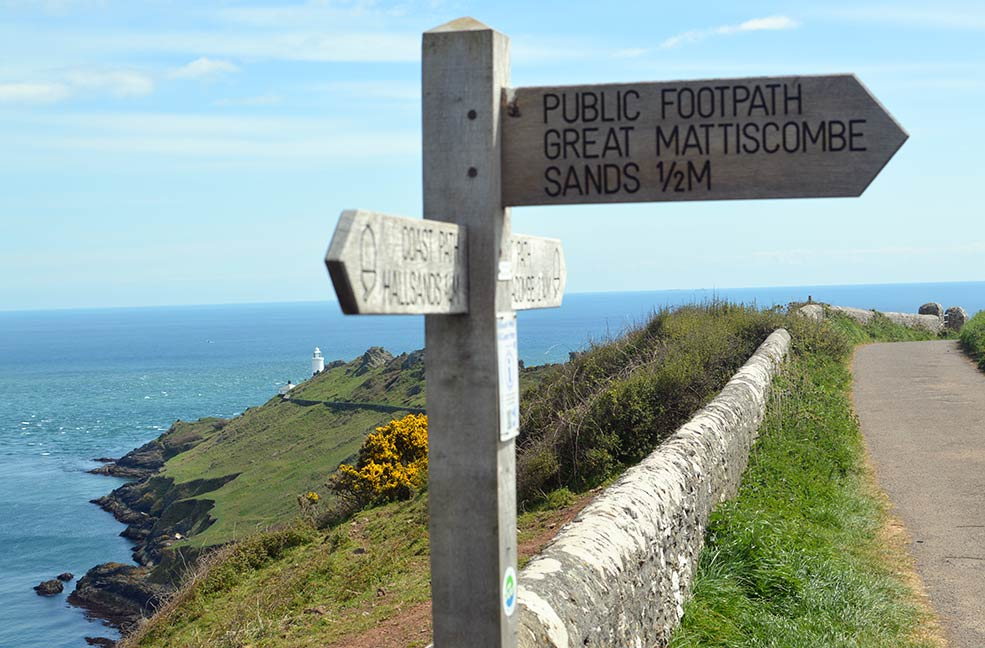 The Start Point signpost. South Devon was gorgeous and hot.