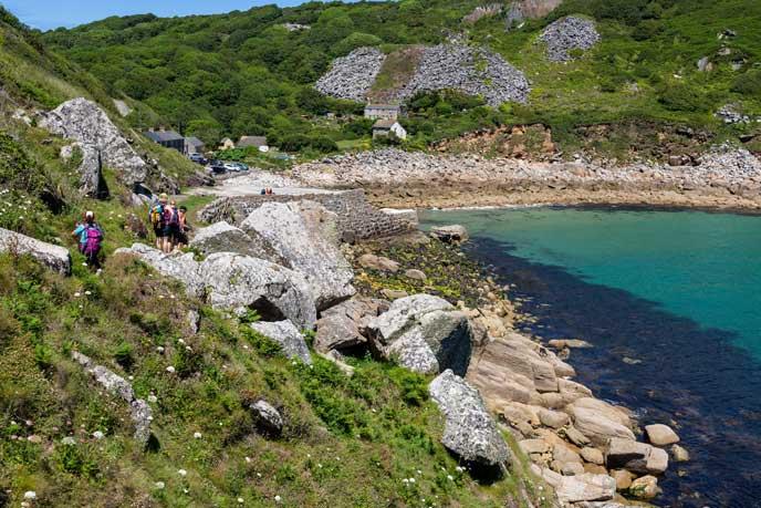 Walking around Lamorna Cove