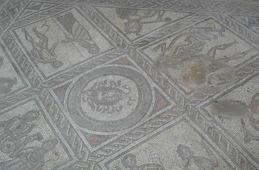Mosaic in Brading Roman Villa, East Wight
