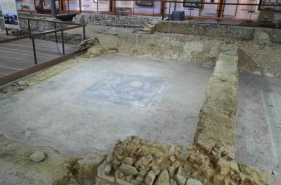 Brading Roman villa is a great rainy day activity