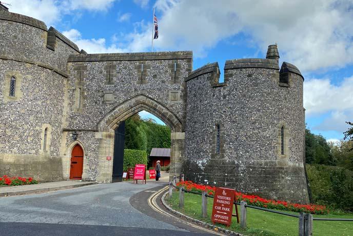 Arundel Castle entrance, Sussex