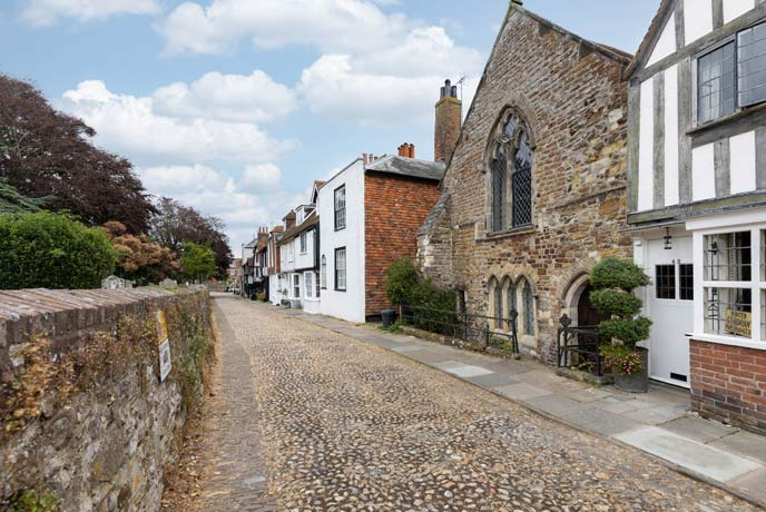 Rye's cobbled streets