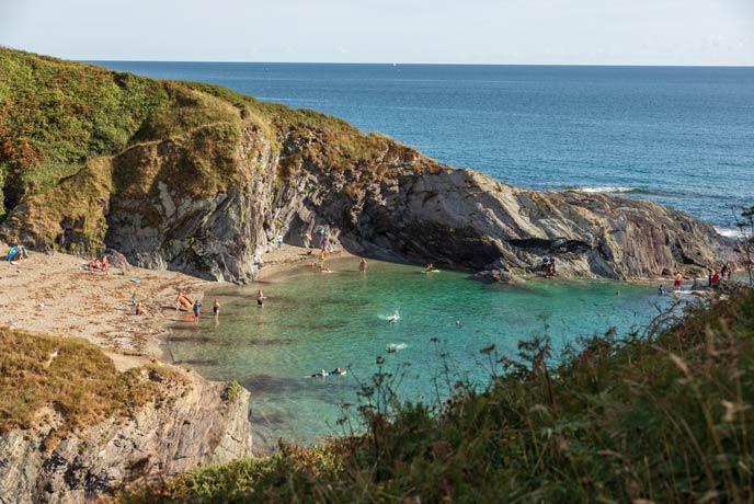 Lansallos Beach, South Cornwall