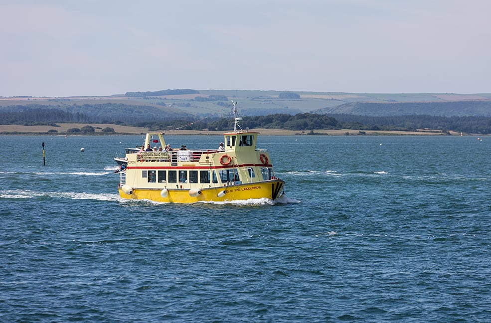 Brownsea Island yellow boat travel