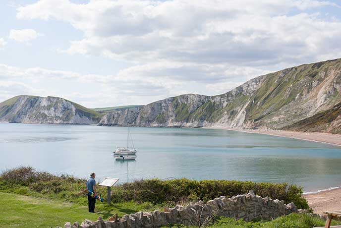 Beautiful views of the coast all the way along the South West Coast Path.