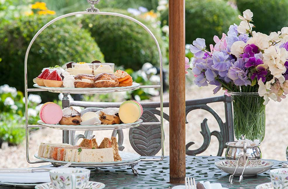 Afternoon tea at the Summer Lodge Hotel in Dorset
