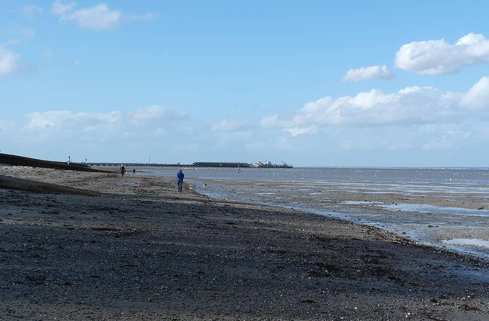 Looking toward Ryde pier from Appley beach on the Isle of Wight.