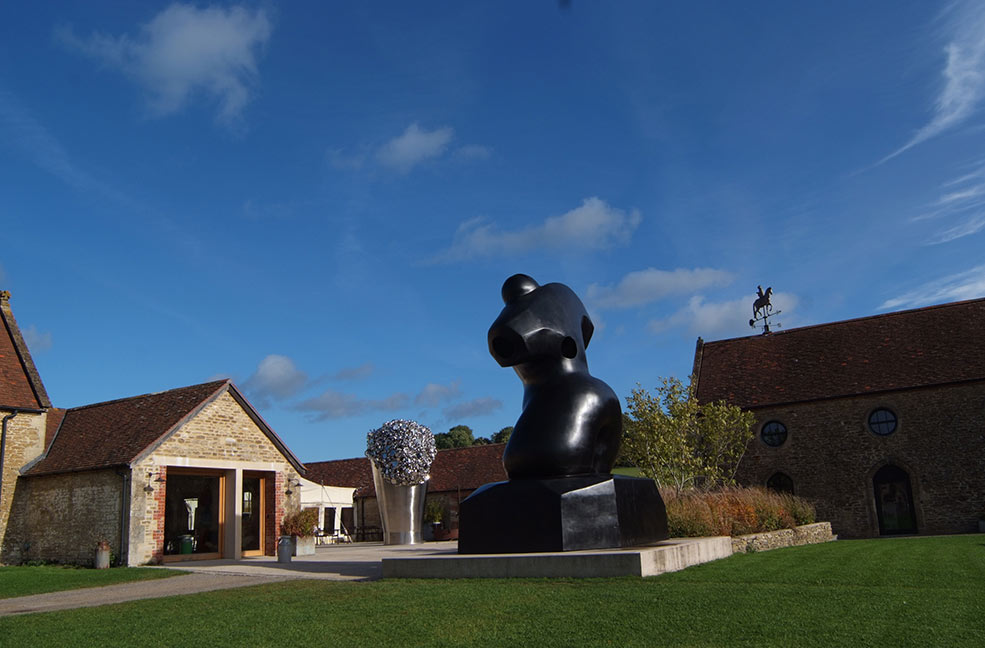 The Hauser and Wirth gallery near Bruton showcases their sculptures in the stunning Somerset countryside.