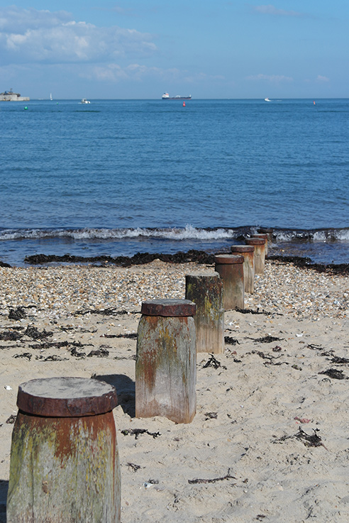 St Helens Beach has lovely Solent views