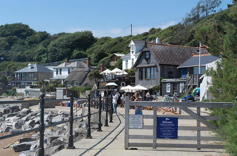 Beautiful Steephill Cove on a sunny day
