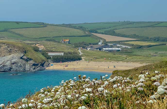 Church Cove has been a location for Poldark and is a lovely beach on the Lizard.