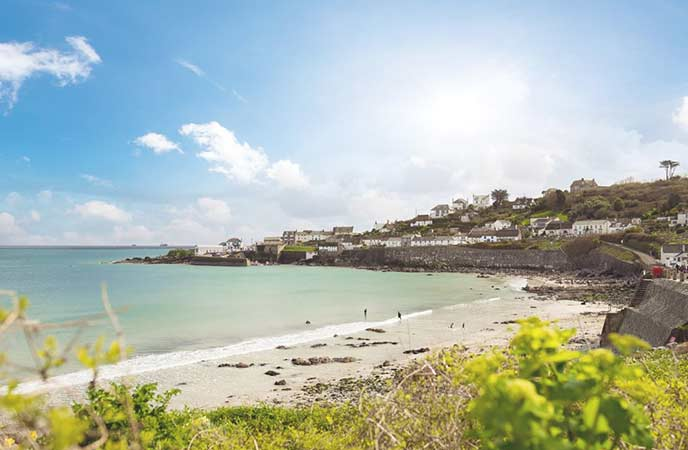 Coverack is a picture perfect beach in Cornwall.
