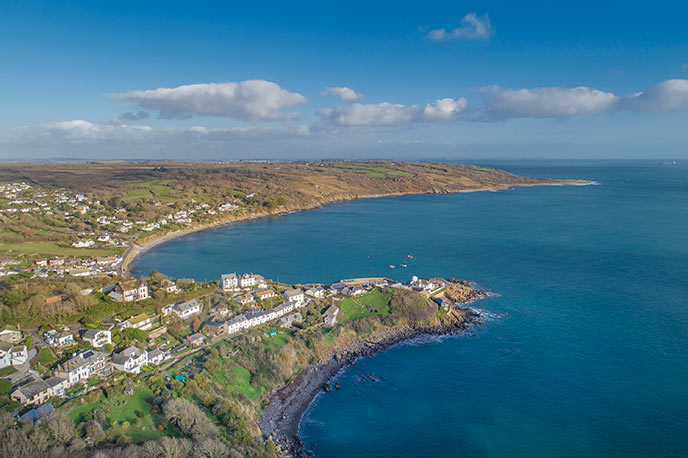 Coverack from the air