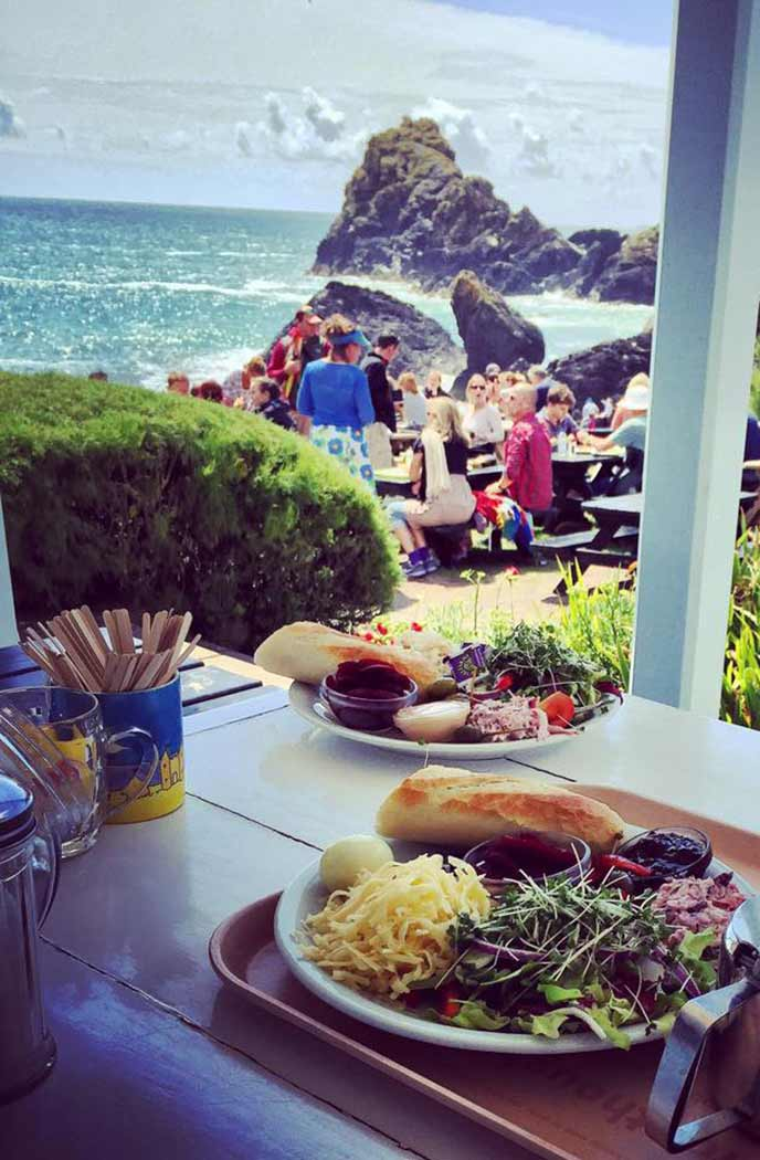 Amazing views from the cafe at Kynance Cove.