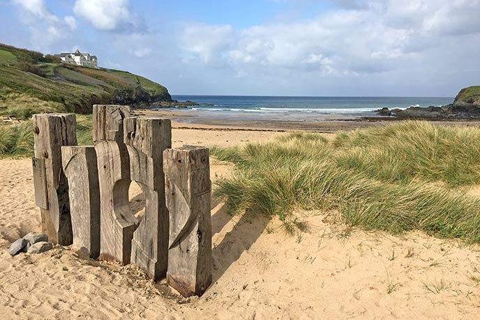 Poldhu Cove has a brilliant beach cafe and is a great place for walking.
