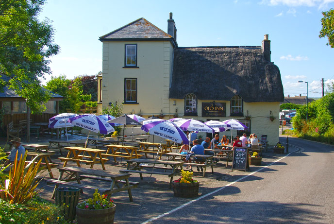 The Old Inn in Mullion is at the heart of the village serving local food and drink.