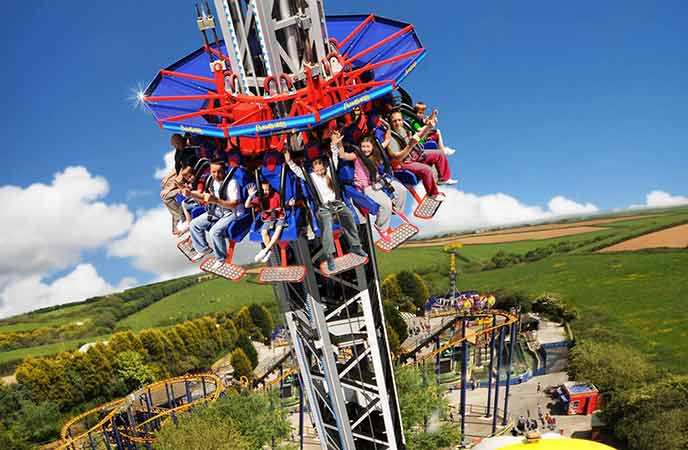 Treat the kids to some (gentle) white knuckle rides at Flambards.