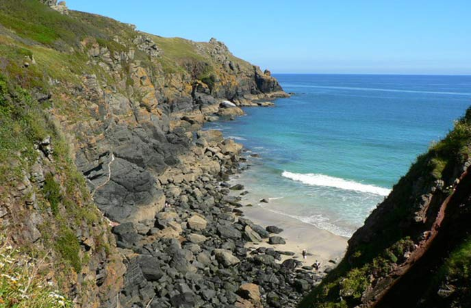 Step off the beaten track to Housel Bay in Cornwall.