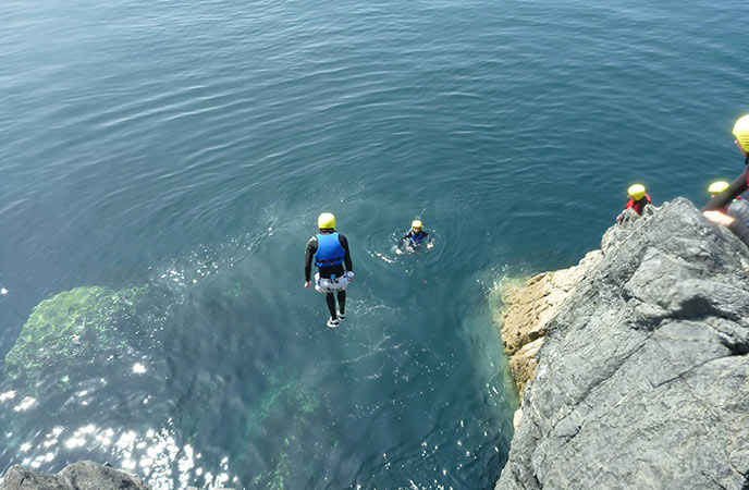 Jump in with some coasteering at Lizard adventure.