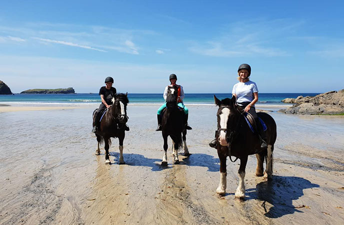 Canter and walk across the beaches of the Lizard with this equestrian school.