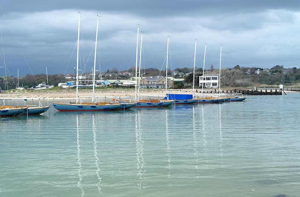 Boats at Bembridge beach