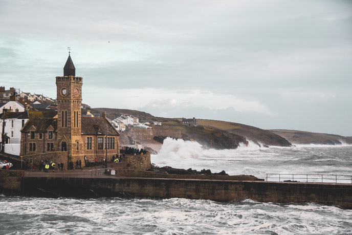 Stormy Porthleven, Cornwall