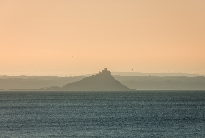 St Michaels Mount in the mist