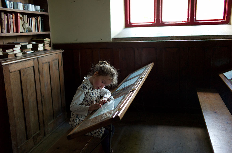 The school is perfectly preserved, image by Annabel Elston