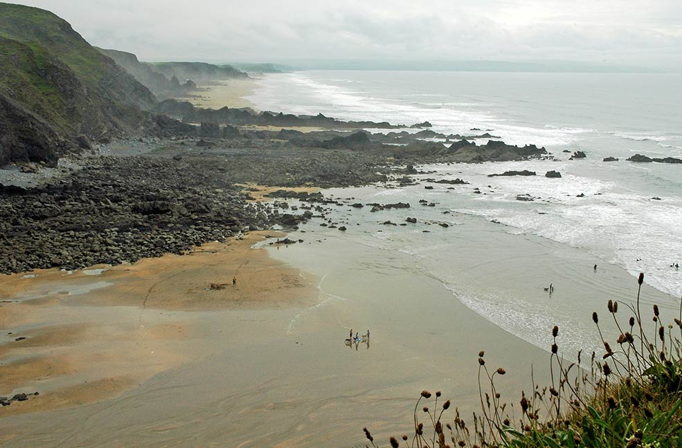 Duckpool beach by H Spurway
