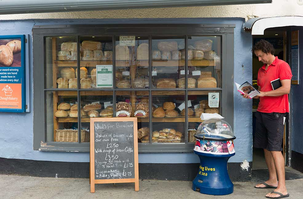The Chough Bakery for a pasty breakfast