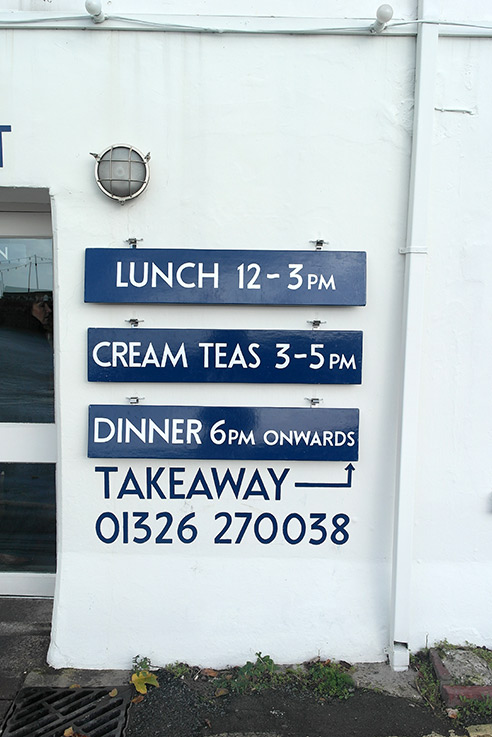 Places to eat St Mawes