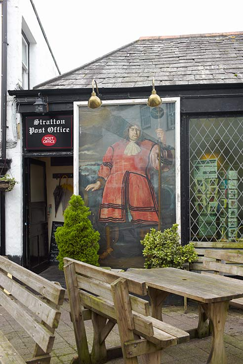 Anthony Payne, the Cornish Giant guarding Stratton Post Office