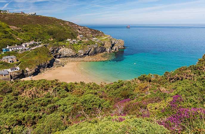 Sea swim in Cornwall