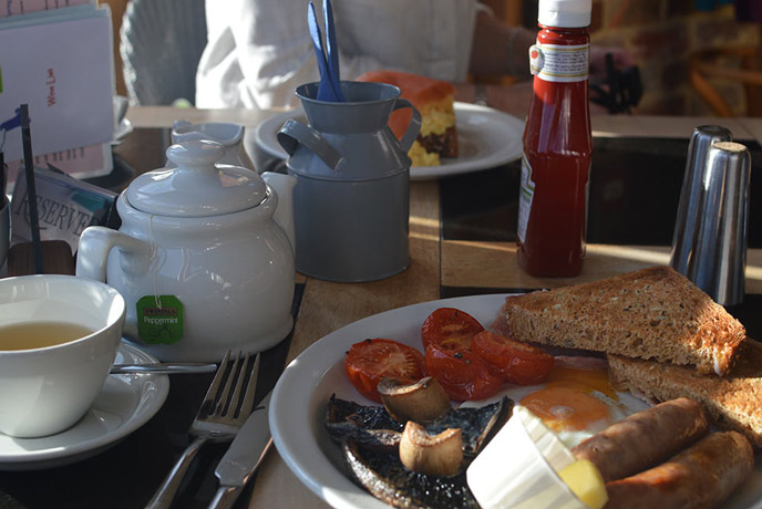 Breakfast at Bluebells on the Isle of Wight