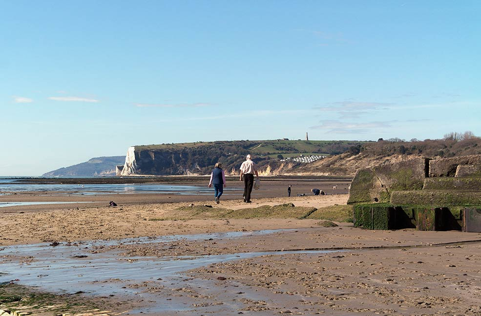 Good weather makes for a perfect day walking on Bembridge beaches.