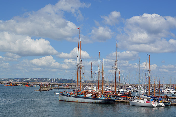 The views from Brixham harbour are beautiful.